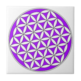 Flower of Life Purple Tile