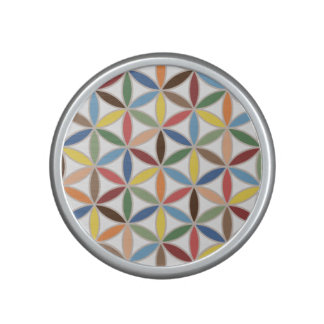 Flower of Life Retro Color Big Pattern Bluetooth Speaker