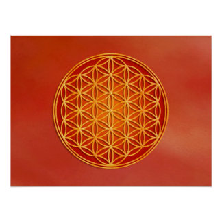 Flower of Life - Root Chakra Poster