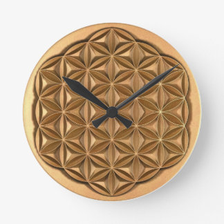 Flower of Life Round Clock