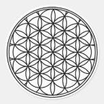 Flower of Life Round Sticker