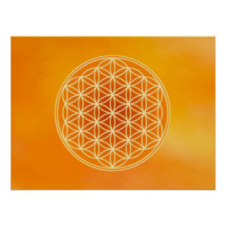 Flower of Life - Sacral Chakra Posters