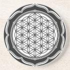 Flower of life, Sacred Geometry, Healing Symbol Coaster