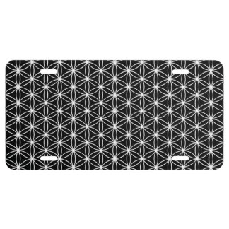 Flower Of Life Sacred Geometry License Plate