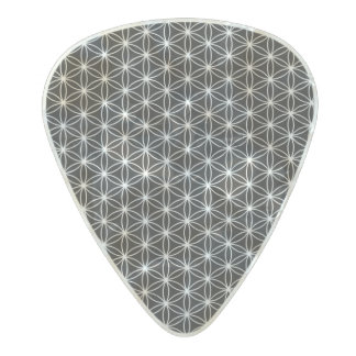 Flower Of Life Sacred Geometry Pearl Celluloid Guitar Pick