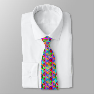 Flower of Life - seamless pattern - gradient color Tie
