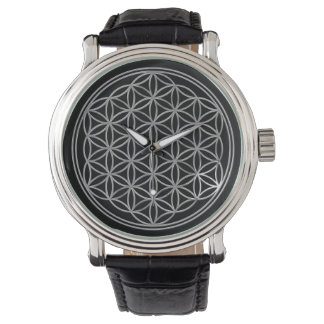 Flower of Life - silver Watch
