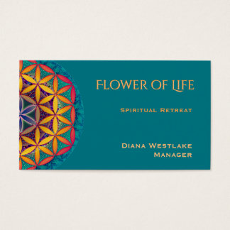 Flower of Life Spiritual Retreat Business Card