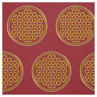Flower of Life - stamp gold + your backgr. & ideas Fabric