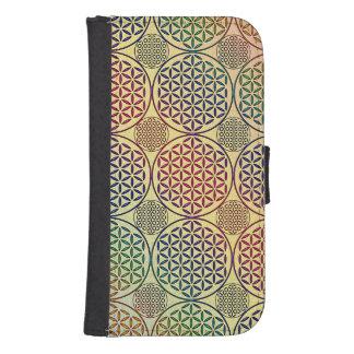 Flower of Life - stamp grunge pattern 1 Galaxy S4 Wallet