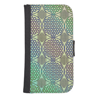 Flower of Life - stamp grunge pattern 2 Phone Wallets