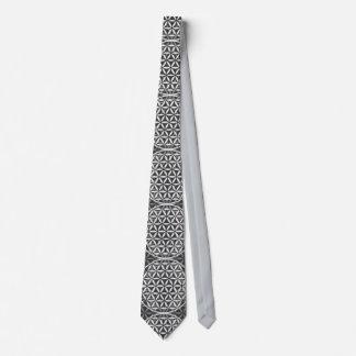 Flower of Life - stamp pattern - grey Tie
