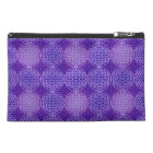 Flower of Life - stamp pattern - purple Travel Accessory Bag