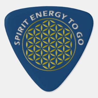 FLOWER OF LIFE - stamp - Spirit Energy to go Guitar Pick
