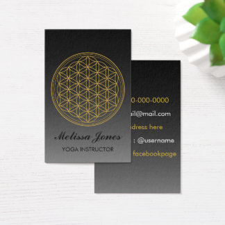 Flower of life Symbol Yoga Bussines Card