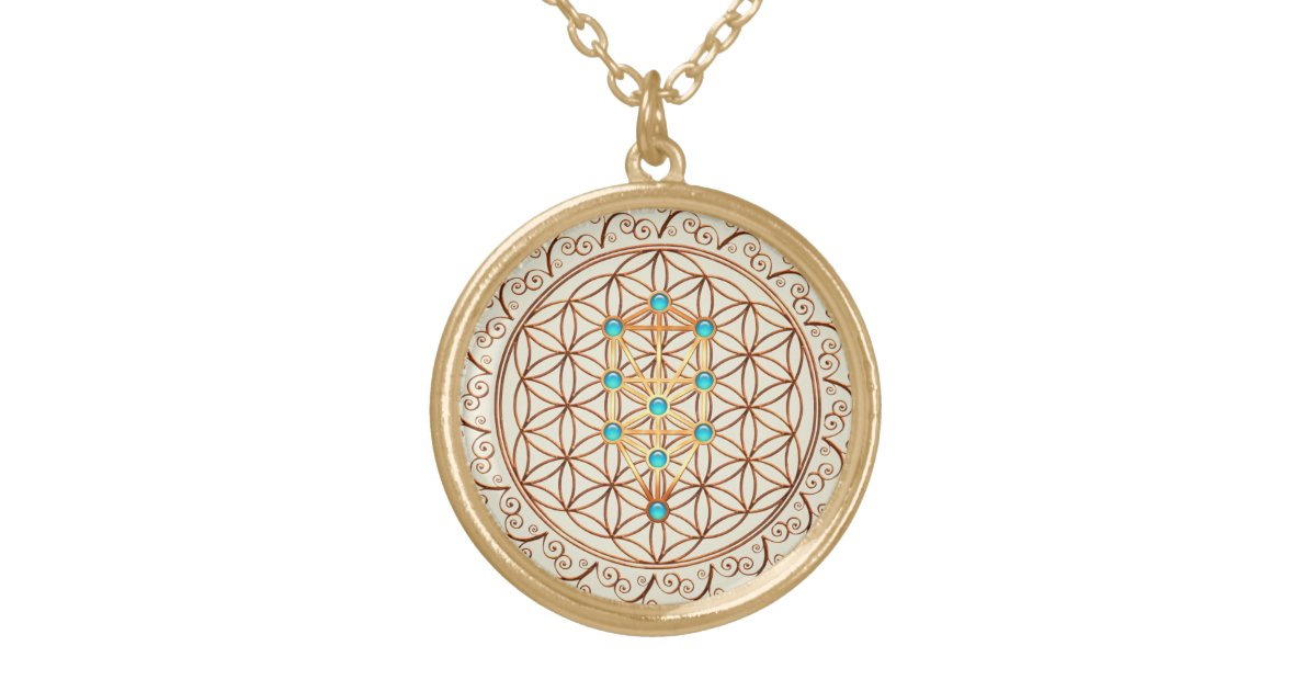 Flower Of Life Tree Of Life Kabbalah Sephiroth Gold Plated Necklace Zazzle Ca Philosophy, meditations, rituals and more. zazzle