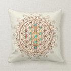 Flower of Life, Tree of Life, Kabbalah, Sephiroth Throw Pillow