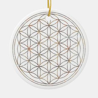 Flower Of Life (V-Elements) Ceramic Ornament