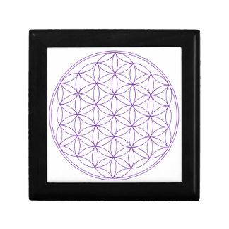 Flower of Life Violet Trinket Box