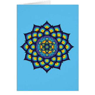 Flower of Life with Metatron's Cube Card