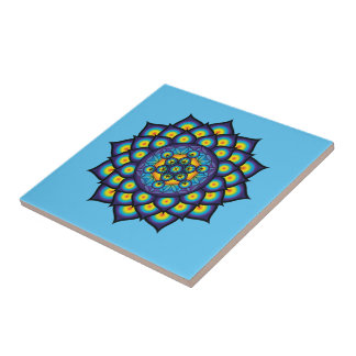 Flower of Life with Metatron's Cube Ceramic Tile