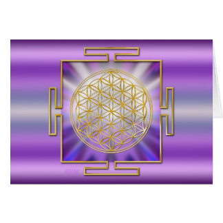 Flower Of Life Yantra Card