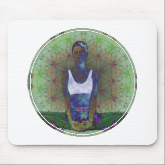 Flower of Life Yoga Series Mouse Pad