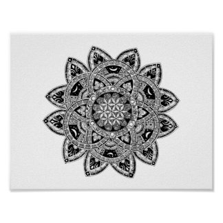 Flower of Life zendoodle Poster