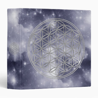 Flower Of Live / silver | dark blue universe Vinyl Binder
