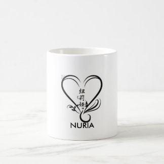 flower of loto, nuria in Chinese, NURIA Coffee Mug