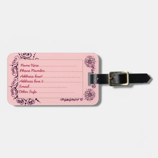 Flower Of Love (Henna) (Pink) Luggage Tag