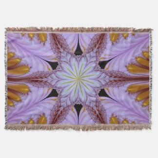Flower of Meditation Throw Blanket