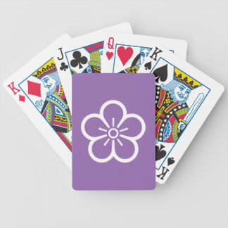 Flower of medium shade plum bicycle playing cards