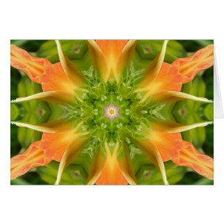 Flower of Peace Mandala Greeting Card