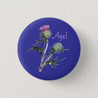 Flower of Scotland Scottish Independence Pinback 1 Inch Round Button