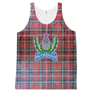 `Flower of Scotland' Unisex All Over Print Tank