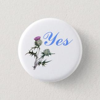 Flower of Scotland Yes Thistle Flower Pinback 1 Inch Round Button