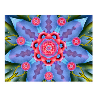 Flower of Sevens Mandala Postcard