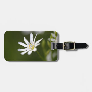 Flower of the  greater stitchwort luggage tag