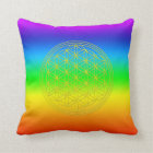 Flower of the life Chakra 2 Throw Pillow