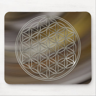 Flower of the life/Flower OF Life   more silver Mouse Pad