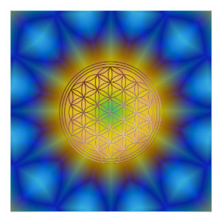 Flower of the life motive 10 poster