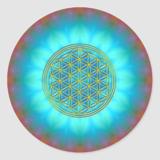 Flower of the life motive 11 classic round sticker