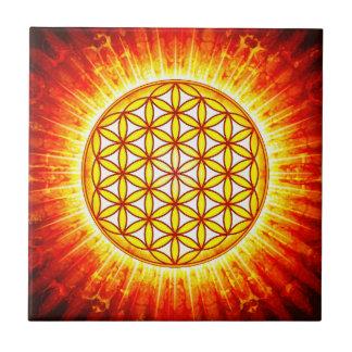 Flower of the life - sun III Ceramic Tiles
