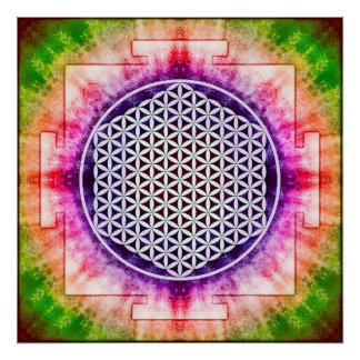 Flower of the life - Yantra Poster