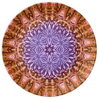 Flower of Time Mandala Plate
