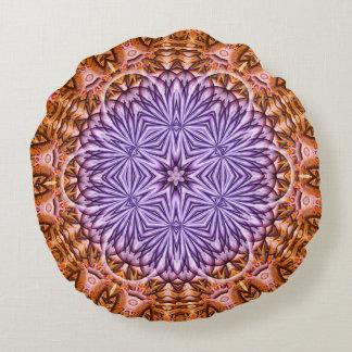 Flower of Time Mandala Round Pillow
