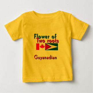Flower of two roots guyanese-canadian baby T-Shirt