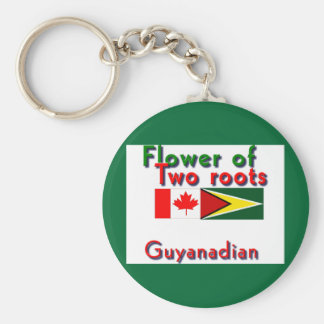 Flower of two roots guyanese-canadian keychain