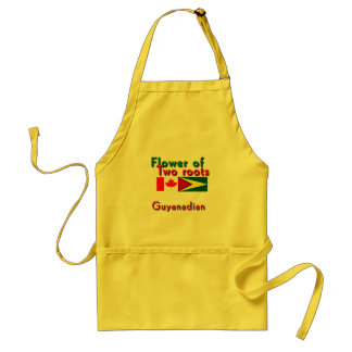 Flower of two roots guyanese-canadian standard apron